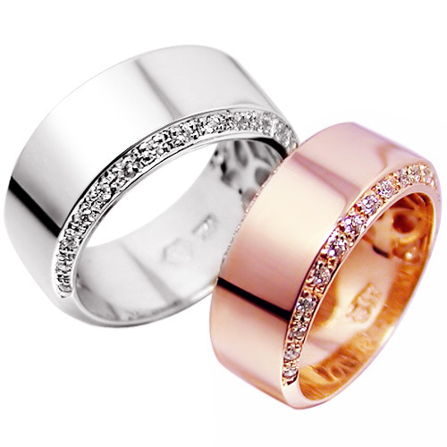 CL13838 사인올큐빅 White & Pink Gold