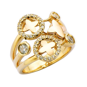 R60042 Yellow & Pink Gold